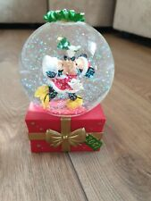 More details for disney store snow globe 2007 mickey & minnie mouse kissing under mistletoe