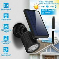 Outdoor Solar Powered LED Spotlight Motion Sensor IP65 Waterproof Security Light
