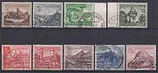 Ungeprüfte Briefmarken aus dem deutschen Reich (1933-1945) mit Bauwerks-Motiv
