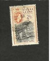 1956 Sierra Leone SC #204 DRUGU BRIDGE  Θ used stamp