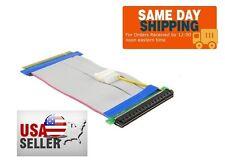 16X PCI-Express 19CM PCI-E 16X Riser Card Flexible Ribbon Extender Cable w/Molex