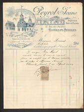 """CLERMONT-FERRAND (63) Entrepreneur en COUVERTURE / ARDOISE """"PEYROL Jeune"""" 1897"""