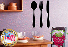 Wall Stickers Vinyl Decal Spoon Fork Knife Cafe Bistro Restaurant Food  EM372