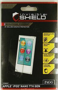 ZAGG Invisible SHIELD iPod NANO 7TH GEN SCREEN -NEW SMUDGE, GLARE, SCRATCH PROOF