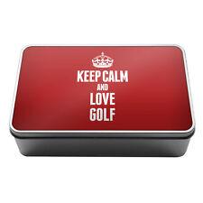 RED Keep Calm and Love Golf Metal Storage Tin Box 1757