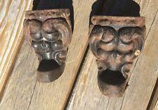 2 Antique VTG Rare Gargoyle Gothic Cast Iron Claw Foot Bath Tub Stove Feet Legs