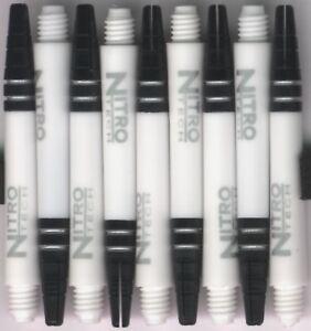 NitroTech White Medium Polcarbonate/Aluminum Top Dart Shafts: 1 set of 3