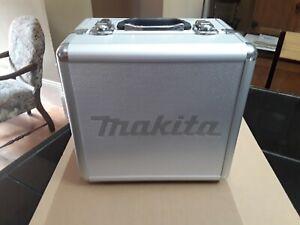 Aluminum Soft Lined Storage / Drill Box. Makita Metal Utility Case. Empty