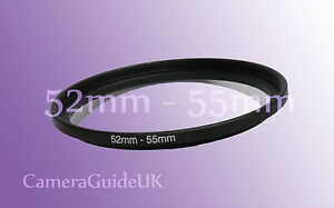 52mm to 55mm 52mm-55mm Stepping Step Up Filter Ring Adapter