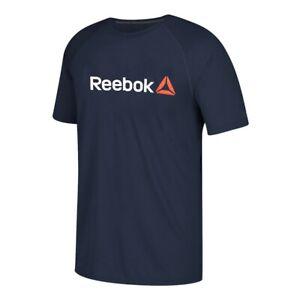 Reebok CrossFit Men's Navy Blue Delta Logo Ultimate Tee Performance T-Shirt
