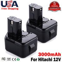 2x EB1214S For Hitachi 12V Battery 3.0Ah EB1212S EB1220BL 12 Volt Cordless Tools