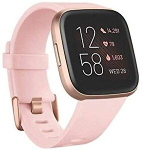 Fitbit Versa 2 Health and Fitness Smartwatch w/ Heart Rate - Petal/Copper Rose