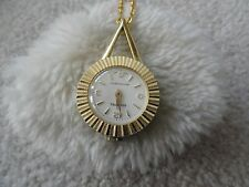 Vintage Swiss Made Schaffel Wind Up Necklace Pendant Watch