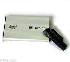 """CASE BOX ESTERNO PER HARD DISK HD HDD 2,5"""" SATA USB 3.0 AUTO ALIMENTATO SLIM"""