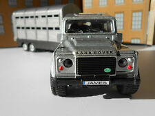 PERSONALISED PLATES LANDROVER & TRAILER Model Toy Car birthday gift BOXED & NEW!