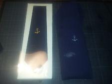 Lot  2 cravates de capitaine de vaisseau 1970- une neuve ancre marine avec étui