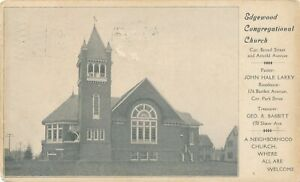 CRANSTON RI – Edgewood Congregational Church - 1910
