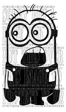 20X12CM Minion choqué Choquant OMG FUNNY Dispicable me Decal Autocollant Vinyle Toon