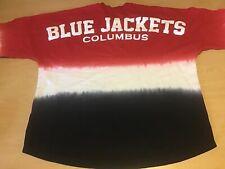 Columbus Blue Jackets Spirit Jersey Long Sleeve Shirt Large Fanatics Hockey NHL