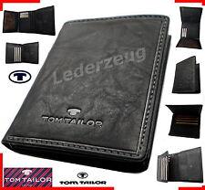 Tom Tailor Lary Leather Wallet Herrengeldbörse schwarz