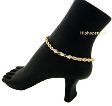 """Bracelet 14K Italy Gold Plated 3mm Rope Chain Quality Anklet 9.75"""""""