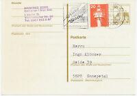 BERLIN Internationale Grüne Woche 1980 Werbestempel auf 30 Pf GA mit Zusatzfrank