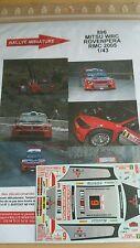 DECALS 1/18 REF 895 MITSUBISHI LANCER WRC PANIZZI RALLYE MONTE CARLO 2005 RALLY