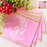 BABY SHOWER GIRL PINK LUNCH NAPKINS PACK OF 16 TABLEWARE PARTY SUPPLIES