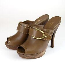 New Authentic Gucci Stirrup Leather Platform Clog Sandal, 36/6, 310351