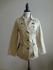 MACKAGE Trenchcoat Jacket with Leather Detail Size P/S