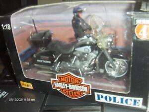 Toy Maisto 1:18 Harley Florida Highway Patrol Motorcycle series 4 diecast police
