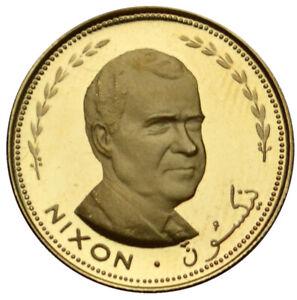 FUJAIRAH 25 Riyals 1969 Gold Proof 'Richard Nixon'