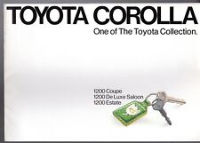 Toyota Corolla 1200 KE20 1973-75 UK Market Sales Brochure Coupe Saloon Estate