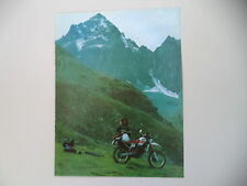advertising Pubblicità 1985 MOTO YAMAHA XT 600 4V 4 VALVES