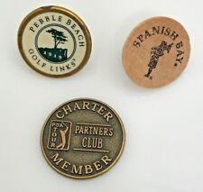 Pebble Beach Cypress Spanish Bay Golf Course Wood Metal Golf Marker Resorts