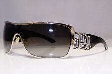 DIOR Womens Diamante Boxed Sunglasses Silver Shield NOS INDINIGHT 2 QCINZ 24214