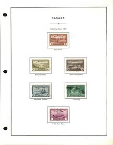Middlesex Stamp, Canada. #268-273. Used set. issued 1943.   box1