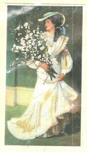 VINTAGE Dimensions Springtime Elegance LARGE Crewel Embroidery Kit Lady Flowers