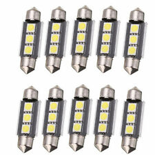 10X 39mm 3LED 5050 SMD C5W CANBUS Error Free Festoon Dome Light Lamp Bulbs White