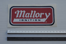 Mallory Ignition Sticker Decal Workshop garage Toolbox Car Hotrod performance