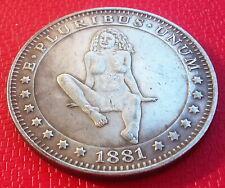 Hobo Nickel Sexy Morgan Dollar Hot Lady Naked Woman US Creative Art Token Coin
