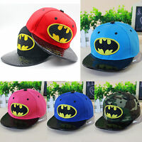 Kinder Baseball Cap Batman Kappe Snapback Schirmmütze Hip Hop Sommer Mütze Hüte
