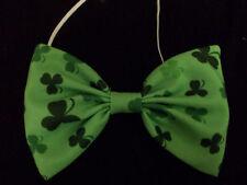 Ireland Irish Shamrock Print Bow Tie Fancy Dress St Patricks Day Paddys Day
