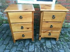 Fabulous Matching Pair of Pine Bedside Drawers
