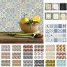 6/10pcs Wasserfest Fliesen Mosaik Wand Sticker Küche Badezimmer Kleber Dekor