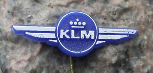 Antique KLM Royal Dutch Airlines Holland Young Junior Pilot Wings Blue Pin Badge