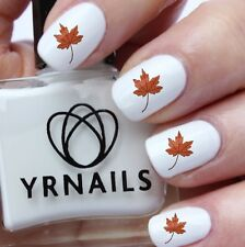 Nail WRAPS Nail Art Water Transfers Decals - Autumn Fall Leaf - S552