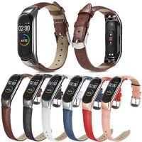 Crocodile Style Leather Strap For XiaoMi Mi Band 5 Miband5 Protect Case Bracelet