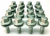 16 x OE alloy wheel M12 x 1.25 flat seat 17mm hex bolts - Peugeot