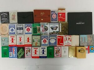 Playing Cards Bundle 30+ Packs Vintage Novelty Piatnik Bicycle Unchecked F7